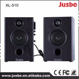 Jusbe XL-510 40W / 4ohm Ensino de áudio caseiro Sistema de som Monitor 2.0 Caixa de alto-falante com reprodutor de microfone sem fio