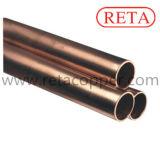 Tubulação macia do cobre da têmpera para o condicionador de ar e o Refrigeration