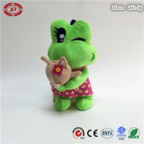 Grenouille verte de mode avec la peluche de banane molle avec le jouet de Hoody