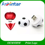 Plastic Soccer USB Stick Heart Shape USB Stick