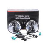 Lantsun J224のジープ97-17 Harleyのためのハイ・ロービームDC10-30Vクロム50W 7inch LEDプロジェクターヘッドライト適合
