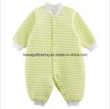 熱および柔らかい赤ん坊のロンパース、しまのある綿のスキューバファブリックから成っている赤ん坊のBodysuit