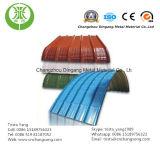 Tuile d'onde de couleur bleue, blanche, grise, rouge, verte/bobine en acier ondulée