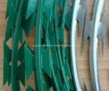 Arame farpado afiado galvanizado de alta elasticidade da lâmina para a cerca de segurança