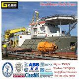 Кран морского пехотинца заграждения оффшорного морского палубного судового крана гидровлический телескопичный