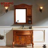 Gabinete de banheiro moderno com piso de mão branco pintado à mão (GSP9-003)