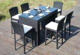 7 Stücke im Freienstab-Stuhl-Schreibtisch gesetzte PET Rattan-Möbel-