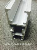 Profil en aluminium enduit personnalisé d'extrusion de section de poudre grand