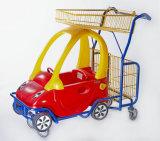 Chariot à gosses avec du plastique