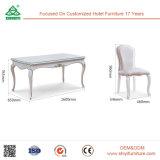 Fabrik-Entwurfs-hölzerne Tisch-europäische Art-lederner speisender Stuhl