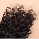 閉鎖浜が付いているインドのバージンの毛は束束と編む深い巻き毛水波の人間の毛髪を搭載する4X4レースの閉鎖を振る