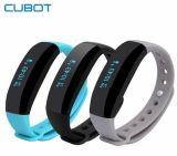El monitor elegante GPS del ritmo cardíaco de la venda de Cubot V2 se divierte el reloj impermeable del Wristband del pulso del perseguidor de la aptitud de la pulsera para el color elegante androide del negro del teléfono del IOS