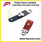 Movimentação nova do flash do USB do estilo do couro do projeto