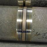 溶接機を配管するオートメーションの鋼管