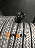 Embalagem trançada de fibra de grafite de PTFE forte forte (conteúdo de grafite: 12%)