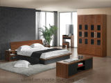 고품질 고아한 나무로 되는 가구 침실 세트 침대 (HX-LS001)