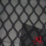 Ткань жаккарда черного алмаза Silk шифоновая для платья