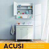 Neue erstklassige einfache Art-weiße festes Holz-Badezimmer-Eitelkeits-Besen-Schrank-Badezimmer-Möbel (ACS1-W35)