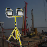 lumière rechargeable de travail du stand DEL de trépied de 20W 30W 50W avec tête duelle/double