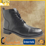 Schwarze Patent-Kuh-Leder Goodyear Borte-Knöchel-Büro-Schuhe