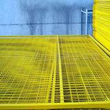 Vente chaude soudée enduite par PVC de treillis métallique d'OIN 9001