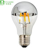 bulbo de prata do filamento do diodo emissor de luz de 2W 4W 6W 8W G125 meio Edison