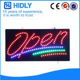 Hidly Viereck das geöffnete Zeichen Amerika-LED