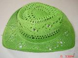 Sombrero de paja hecho a mano colorido de la flor de Malan de la armadura