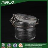 200g rimuovono il vaso di vetro cosmetico per la mascherina facciale con il contenitore di vetro vuoto di trucco del coperchio di gomma di sigillamento