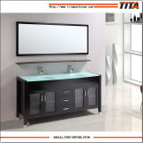 Тщета T9120-24e ванной комнаты античного типа стеклянная верхняя