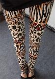 Leopard-Druck-Gamaschen der Qualitäts-Stretchy Frauen (78032)