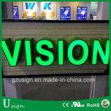 Cartas de canal al aire libre del LED con la muestra del frente del departamento para la cartelera