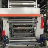 Gwasy-B1 tres impresora de velocidad mediana del rotograbado del color del motor 8 para la película plástica