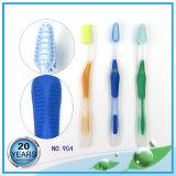 舌の洗剤の多彩な剛毛の歯ブラシが付いているPSのハンドル