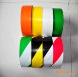 De hete Waarschuwing die van de Vloer van pvc van de Verkoop geel-Zwarte Gestripte Band met RubberKleefstof merken