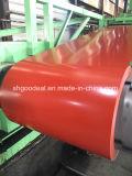 Fabricación galvanizada prepintada roja de las bobinas del acero en China