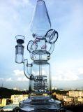 14 Zoll-Glaswasser-Rohr mit Inline-Kreis des Duoble Recycler-zwei