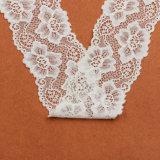 Bordado do laço, tela do laço do Crochet do algodão, aparamento elástico do laço para a senhora Pingamento