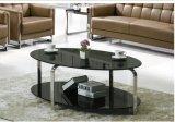 타원형 유리와 유리 커피용 탁자, 까만 타원형 커피용 탁자 유리제 상단 (YF-170089T)