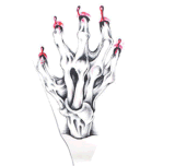 autoadesivo provvisorio impermeabile del tatuaggio della branca sanguinante di modo 3D