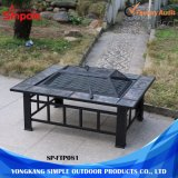Outdoor Portable 2 en 1 table multifonctionnelle de puits de feu