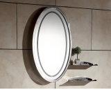 Acciaio inossidabile che lancia il blocco per grafici circolare dello specchio della parete dello specchio semplice della stanza da bagno