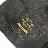 Noir imperméabiliser le sac à dos lavé de cordon de crochet de Papier d'emballage (16A084)
