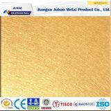 304 8k ont repéré la feuille d'acier inoxydable de couleur d'or