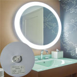 Espejo encendido puesto a contraluz función elegante del cuarto de baño del indicador digital LED Defogger