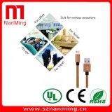 Микро- USB поручая и заплетенная ткань кабеля шнура Sync данных сплетенной для Samsung