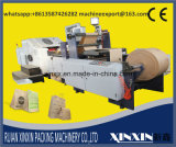 Papel de capa doble con la bolsa de papel auto del control de tensión de la desenrolladora doble que hace la máquina