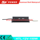 bloc d'alimentation imperméable à l'eau de l'interpréteur de commandes interactif en aluminium continuel DEL de la tension 12V-150W