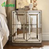Muebles Nightstand reflejado hecho a mano/vector del dormitorio de cabecera reflejado