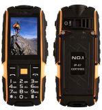 O telefone no. áspero original 1 A9 com polegadas Shockproof Dustproof da lanterna elétrica 2.4 Dual cor da laranja do banco da potência de SIM 2g G/M 4800mAh